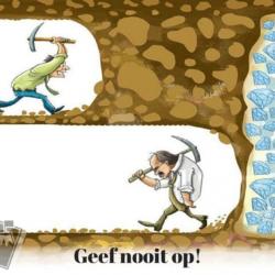 Geef nooit op!