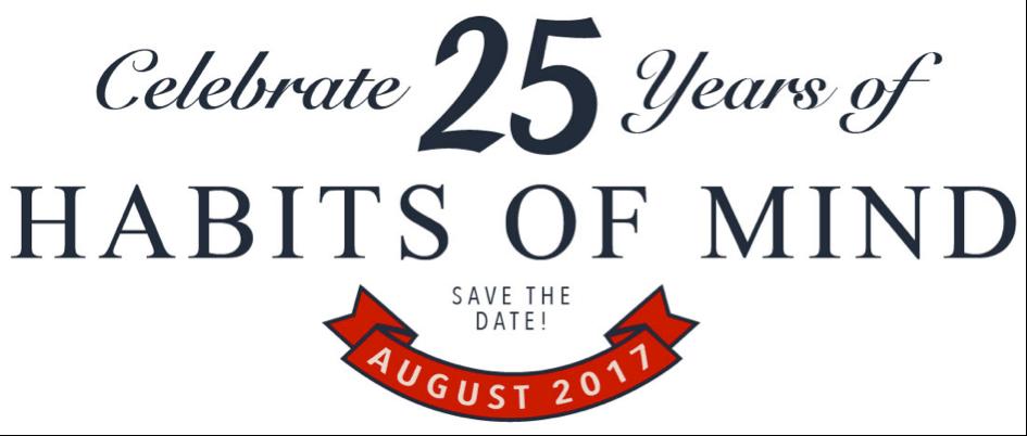 Habits of Mind 25 jaar!